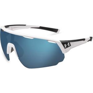 アンダーアーマー ユニセックス スポーツサングラス Adult Changeup Tuned Baseball Sunglasses Satin White/Baseball Tuned Lens|fermart2-store