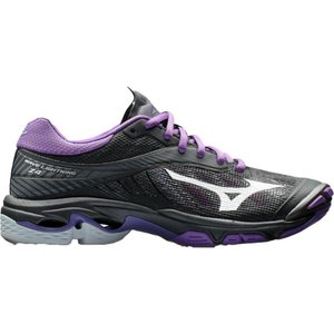 ミズノ レディース シューズ・靴 バレーボール Wave Lightening Z4 Volleyball Shoes Black/Violet|fermart2-store