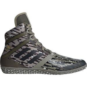 アディダス メンズ シューズ・靴 レスリング Impact Wrestling Shoes Green/Black|fermart2-store