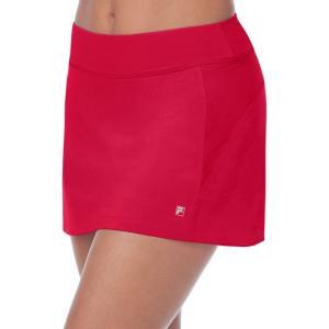 フィラ Fila レディース ミニスカート スコート スカート core a-line skort Crimson Red|fermart2-store