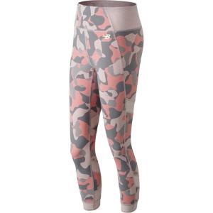 ニューバランス New Balance レディース スパッツ・レギンス インナー・下着 printed evolve 7/8 tights Himalayan Pink|fermart2-store