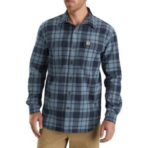 カーハート Carhartt メンズ シャツ トップス hubbard plaid long sleeve button down shirt Steel Blue|fermart2-store