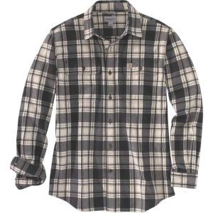 カーハート Carhartt メンズ シャツ トップス hubbard plaid long sleeve button down shirt Black Heather|fermart2-store