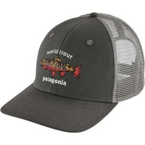 パタゴニア Patagonia メンズ キャップ 帽子 World Trout Brook Fishstitch Trucker Hat Forge Grey|fermart2-store