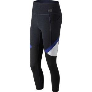 ニューバランス New Balance レディース スパッツ・レギンス インナー・下着 high-rise transform pocket cropped tights UV Blue|fermart2-store