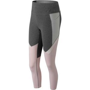 ニューバランス New Balance レディース スパッツ・レギンス インナー・下着 high-rise transform pocket cropped tights Grey/Pink|fermart2-store