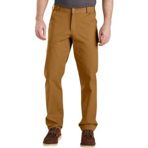 カーハート Carhartt メンズ オーバーオール ダンガリー ボトムス・パンツ rugged flex relaxed fit duck dungarees Carhartt Brown|fermart2-store