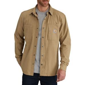 カーハート Carhartt メンズ ジャケット シャツジャケット アウター rugged flex rigby fleece-lined shirt jacket Dark Khaki fermart2-store