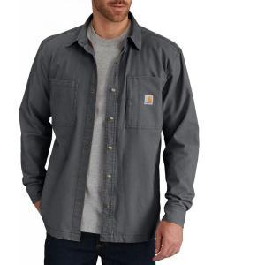 カーハート Carhartt メンズ ジャケット シャツジャケット アウター rugged flex rigby fleece-lined shirt jacket Shadow fermart2-store