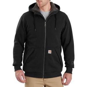 カーハート Carhartt メンズ スウェット・トレーナー トップス rain defender rockland sherpa-lined full-zip hooded sweatshirt Black|fermart2-store