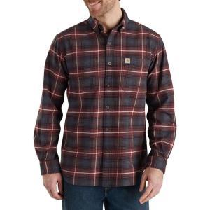 カーハート Carhartt メンズ 半袖シャツ トップス rugged flex hamilton plaid button down shirt Fired Brick|fermart2-store
