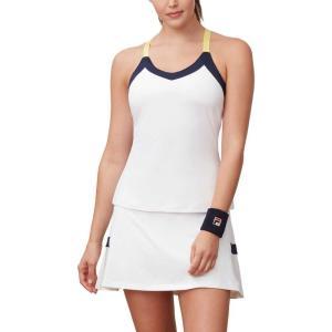 フィラ Fila レディース テニス タンクトップ トップス argyle cami tennis tank top White/Navy/Aurora|fermart2-store