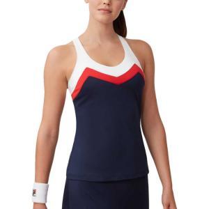 フィラ Fila レディース テニス タンクトップ トップス heritage t-back tennis tank top Navy/White|fermart2-store