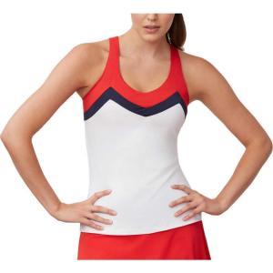フィラ Fila レディース テニス タンクトップ トップス heritage t-back tennis tank top White/Chinese Red/Navy|fermart2-store
