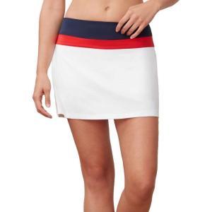フィラ Fila レディース テニス スカート ボトムス・パンツ heritage colorblocked tennis skort White/Chinese Red/Navy|fermart2-store