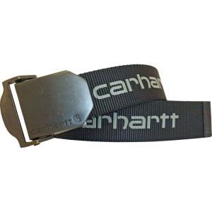 カーハート Carhartt メンズ ベルト signature webbing belt Black|fermart2-store