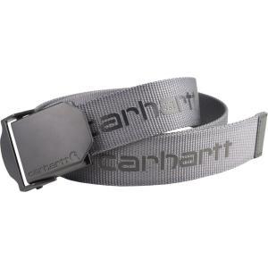 カーハート Carhartt メンズ ベルト signature webbing belt Steel|fermart2-store