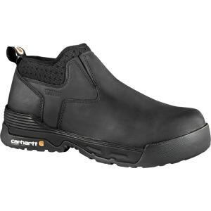 カーハート Carhartt メンズ ブーツ ワークブーツ シューズ・靴 force 4'' slip-on composite toe waterproof work boots Black|fermart2-store