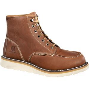 カーハート Carhartt メンズ ブーツ モックトゥ ウェッジソール ワークブーツ シューズ・靴 moc toe wedge 6'' waterproof steel toe work boots Tan|fermart2-store