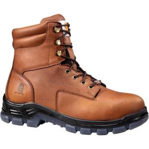 カーハート Carhartt メンズ ブーツ ワークブーツ シューズ・靴 made in the usa 8'' waterproof work boots Brown|fermart2-store