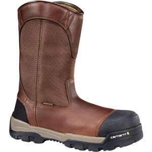 カーハート Carhartt メンズ ブーツ ウェリントンブーツ ワークブーツ ground force 10'' waterproof composite toe wellington work boots Peanut|fermart2-store