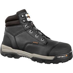 カーハート Carhartt メンズ ブーツ ワークブーツ シューズ・靴 ground force 6'' waterproof composite toe work boots Black|fermart2-store