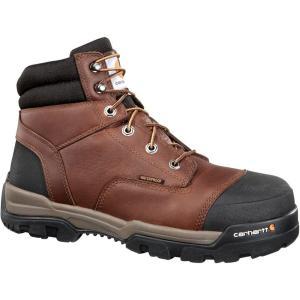 カーハート Carhartt メンズ ブーツ ワークブーツ シューズ・靴 ground force 6'' waterproof composite toe work boots Peanut|fermart2-store