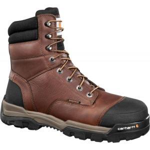 カーハート Carhartt メンズ ブーツ ワークブーツ シューズ・靴 ground force 8'' waterproof composite toe work boots Peanut|fermart2-store