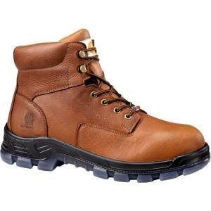 カーハート Carhartt メンズ ブーツ ワークブーツ シューズ・靴 made in the usa 6'' waterproof composite toe work boots Brown|fermart2-store