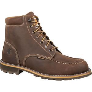 カーハート Carhartt メンズ ブーツ ワークブーツ シューズ・靴 moc 6'' waterproof steel toe work boots Bison|fermart2-store