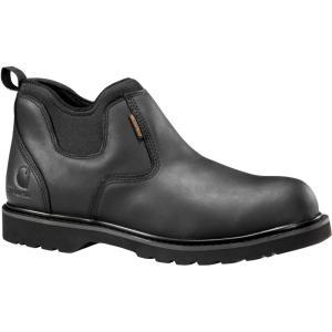 カーハート Carhartt メンズ ブーツ ワークブーツ シューズ・靴 slip-on 4'' waterproof work boots Black|fermart2-store