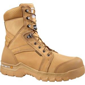 カーハート Carhartt メンズ ブーツ ワークブーツ シューズ・靴 rugged flex 8'' 400g waterproof work boots Wheat|fermart2-store