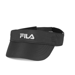 フィラ Fila ユニセックス サンバイザー 帽子 Performance Solid Tennis Visor Black|fermart2-store