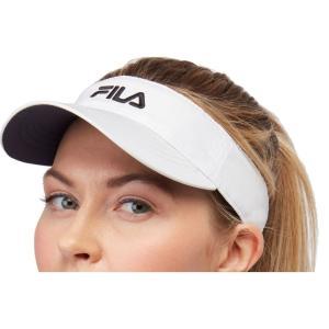 フィラ Fila ユニセックス サンバイザー 帽子 Performance Solid Tennis Visor White|fermart2-store