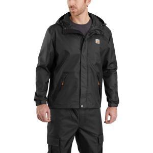 カーハート Carhartt メンズ レインコート アウター dry harbor rain jacket Black|fermart2-store
