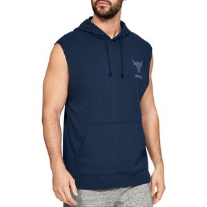 アンダーアーマー Under Armour メンズ ノースリーブ トップス Project Rock French Terry Sleeveless Hoodie Academy|fermart2-store