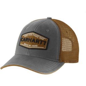 カーハート Carhartt メンズ 帽子 silvermine mesh back hat Gravel|fermart2-store