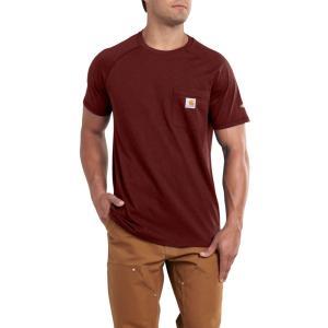 カーハート Carhartt メンズ Tシャツ トップス force cotton delmont t-shirt Red Brown Heather|fermart2-store