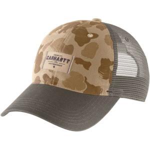 カーハート Carhartt メンズ 帽子 glennville mesh back hat Dark Khaki Duck Camo|fermart2-store