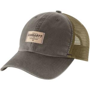 カーハート Carhartt メンズ 帽子 glennville mesh back hat Tarmac|fermart2-store