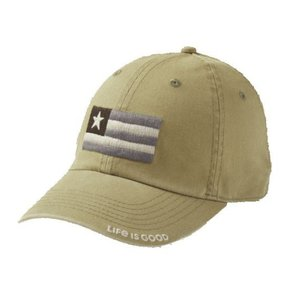 ライフイズグッド Life is good メンズ 帽子 Life is Good Flag Patch Chill Cap Fatigue Green|fermart2-store