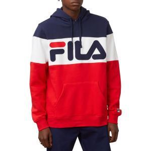 フィラ Fila メンズ パーカー トップス FILA Flamino Hoodie Navy/Red/White|fermart2-store