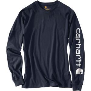 カーハート Carhartt メンズ シャツ トップス graphic logo long sleeve shirt Navy|fermart2-store
