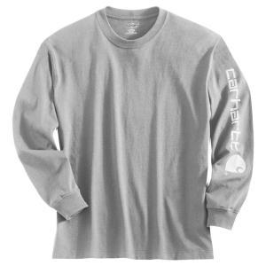 カーハート Carhartt メンズ シャツ トップス graphic logo long sleeve shirt Heather Grey|fermart2-store