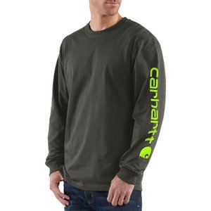 カーハート Carhartt メンズ シャツ トップス graphic logo long sleeve shirt Peat|fermart2-store