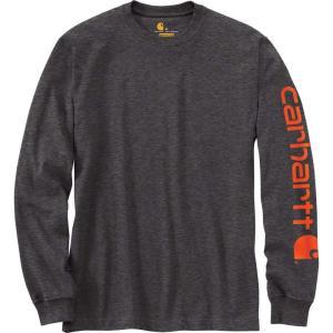 カーハート Carhartt メンズ シャツ トップス graphic logo long sleeve shirt Carbon Heather|fermart2-store