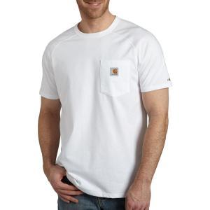 カーハート Carhartt メンズ Tシャツ トップス force cotton delmont short sleeve t-shirt White|fermart2-store
