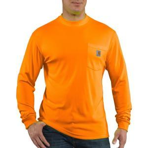 カーハート Carhartt メンズ シャツ トップス force color enhanced long sleeve shirt Brite Orange|fermart2-store