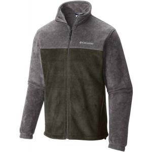 コロンビア Columbia メンズ フリース トップス Steens Mountain Full Zip Fleece Jacket Peatmoss/Charcoal Heather|fermart2-store
