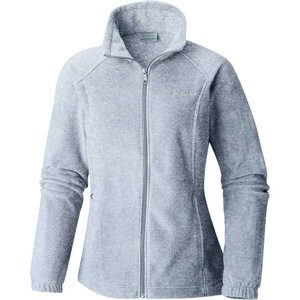 コロンビア Columbia レディース フリース トップス Benton Springs Full Zip Fleece Jacket Cirrus Grey Heather|fermart2-store